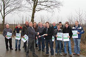 Woudencertificaat voor 16 boeren