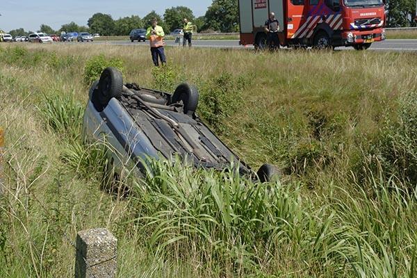 maandag 18 juli - Man gewond bij eenzijdig ongeval A7