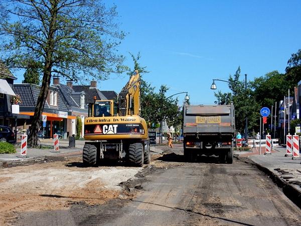 maandag 18 juli - Stremming op kruising voor aanleg rotonde