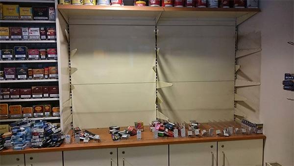 donderdag 11 augustus - Sigaretten buit bij inbraak in tankstation