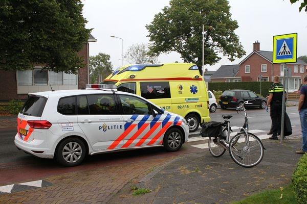 maandag 22 augustus - Feanster gewond bij ongeval Groningerstraat