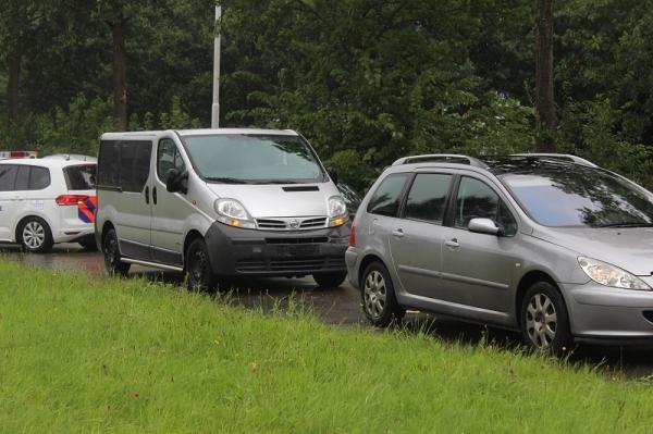 maandag 22 augustus - Kop-staartbotsing op Noorderhogeweg Drachten