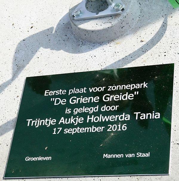 zaterdag 17 september - Mega zonnepark in aanbouw in Garyp