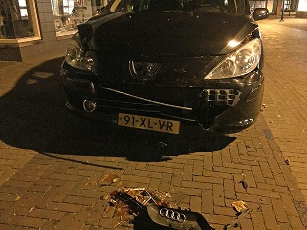 maandag 19 september - Audi snel opgespoord na doorrijden botsing