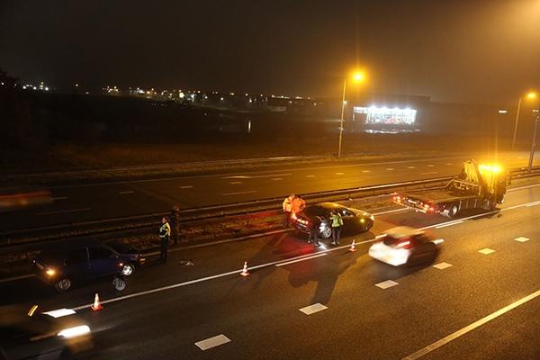 Auto's in botsing op A7 bij Drachten