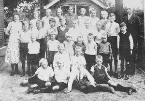 Klassenfoto van vroeger
