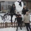 24 januari 2015 Harkema - mooie grote sneeuwpop