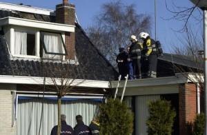 Schoorsteenbrand op Lageweg