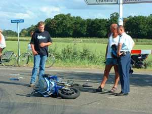 Motorrijder gewond bij Anjum