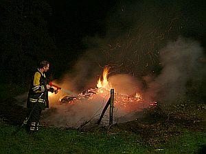 Weilandbrandje in Surhuisterveen