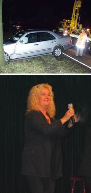 Griet Wiersma van de weg gereden