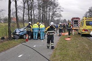 Ongeval bij Broeksterwoude