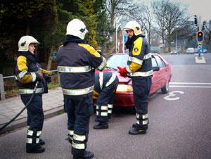 Autobrandje in Burgum