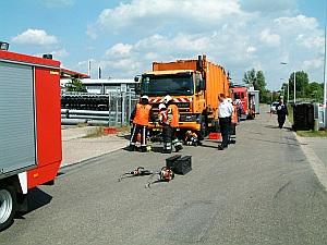Brandweer examens in Burgum