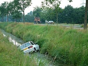 Auto te water in Noardburgum