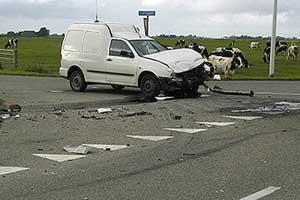 Gewonde bij ongeval in Burdaard
