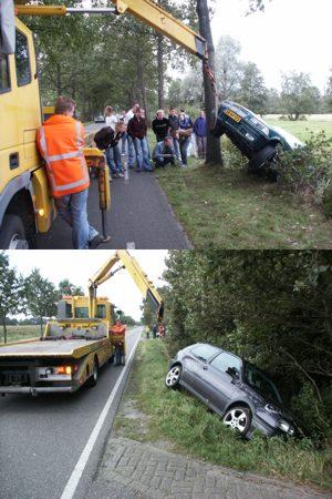 Auto's in sloten bij Surhuisterveen