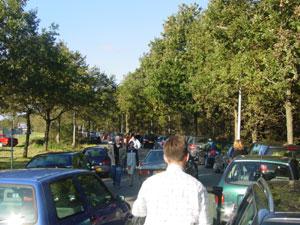 Grote parkeerdrukte bij Stania State