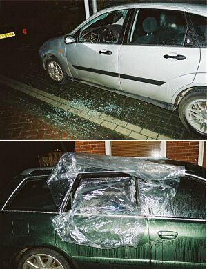 Auto's vernield in Drachten