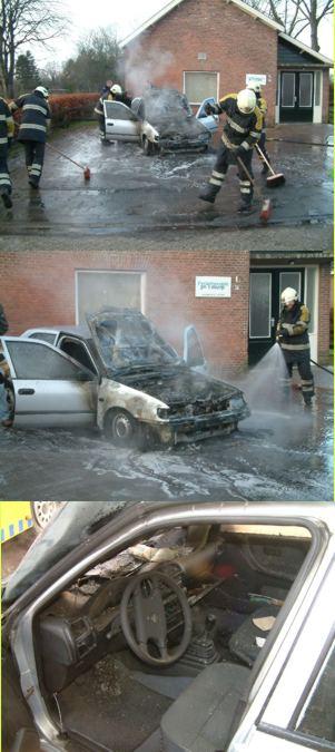 Slapende Burgumer zet auto in brand
