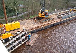 Reparatie dukdalf Burgumer brug