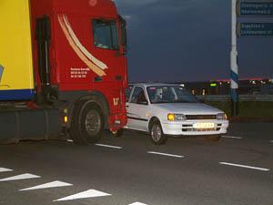 Ongeval bij Drachten-Azeven