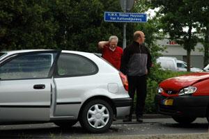 Burgum: botsing in file naar Wâldrock