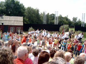 Heidefeest in Harkema druk bezocht