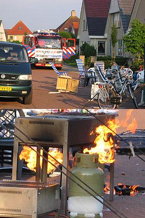 Barbecue verpest (brandweer) feestje