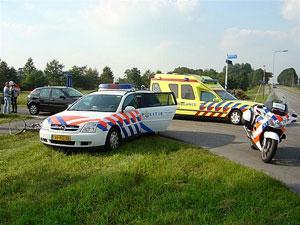 Fietser aangereden in Ureterp