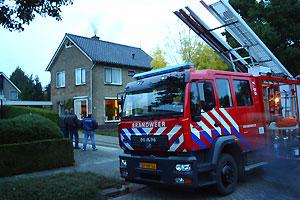 Schoorsteenbrand in Burgum
