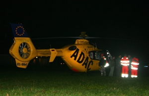 Traumaheli overnacht in Kootstertille