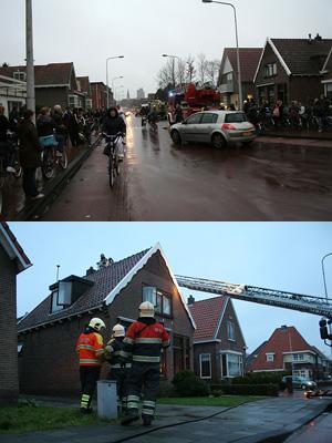 Schoorsteenbrand in Torenstraat