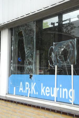 Vandalen weer actief in Burgum