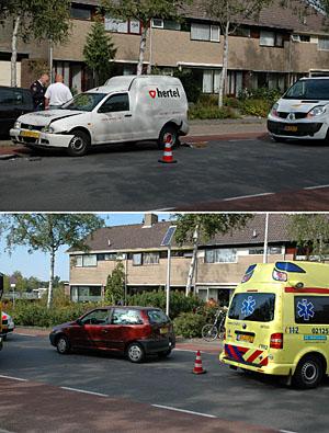 Drie auto's in botsing in Drachten