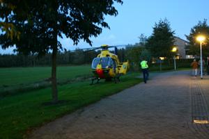 Traumahelikopter landt in Tytsjerk