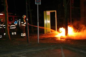 Container uitgebrand in Gorredijk