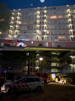 Gewonde door brand in flat