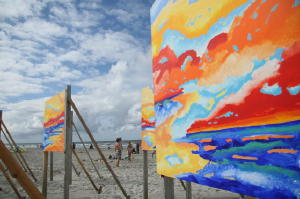 The Colors of Music te zien op strand