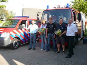 Jubilarissen bij brandweer Anjum