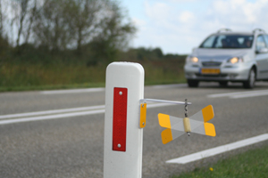Nieuwe wildreflectoren bij Lauwersoog