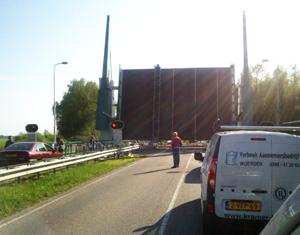 Storing plaagt brug bij Kollum (N358)
