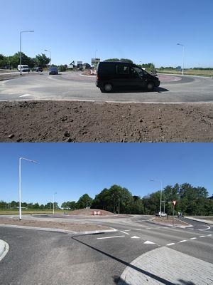 Rotonde in Vierhuisterweg geopend