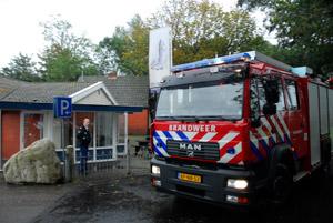 Brandje bij Annema's Vis in Hurdegaryp