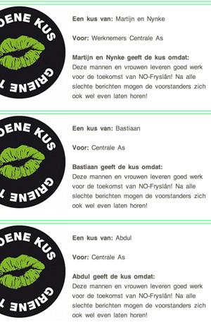 Groene kussen voor bomenzagers