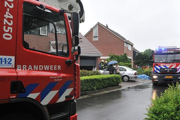 Brand in woning aan Wilgenlaan Dokkum
