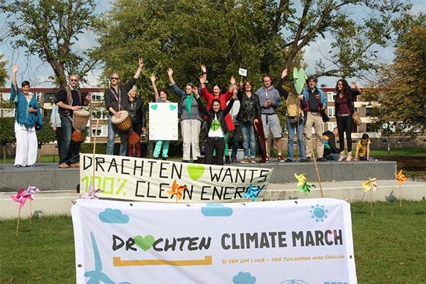 Weinig deelnemers aan klimaatmars Drachten
