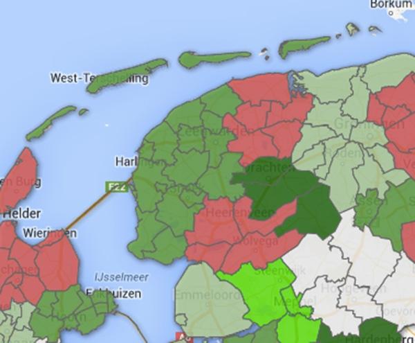 Huizenprijzen dalen in Noordoost Friesland