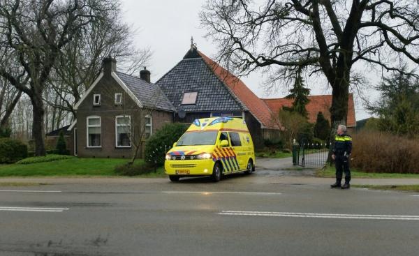 Man raakt gewond in Donkerbroek