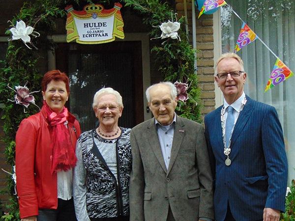 Jan Rinzema 60 jaar getrouwd met Lina